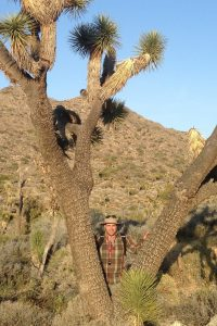 James Mickley conducting fieldwork in Joshua Tree National Park